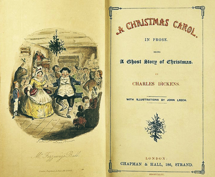 De eerste uitgave van 'A Christmas carol', 1843.